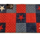 Red White Blue Americana Stars Accent Rug