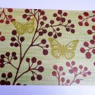 Floral Butterflies Placemats Set Spring Kitchen Decor