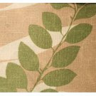 Leaf Motif Fabric Tablecloth Round