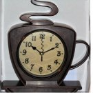 Coffee Cup Kitchen Clock