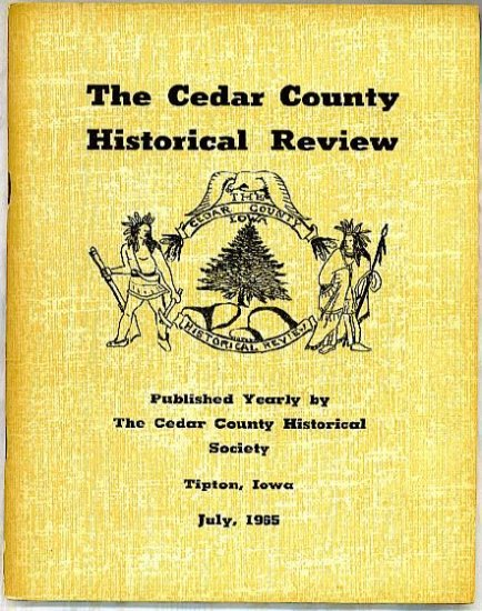 CEDAR COUNTY Historical  Review  1965 Marriage records 1854-55