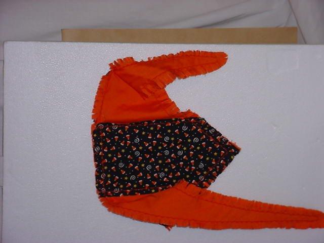 DOG Bandana  Fall Halloween Handcrafted Cotton machine embroidery eC304