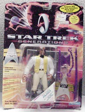 Worf 19th Century Star Trek Generations Action Figure by Playmates