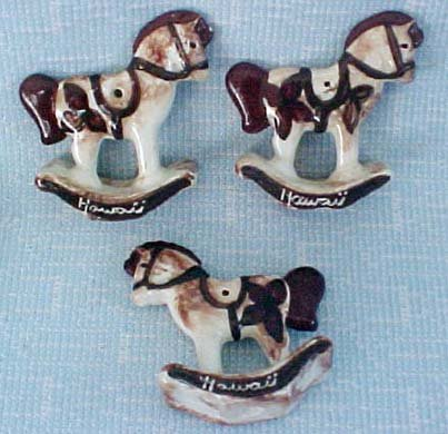 Tapa Rocking Horse Ornaments of Porcelain or Ceramic