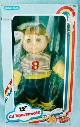 L�il Sportsmate Boy Doll 12� - 1974 Blue-Box Toys MIB