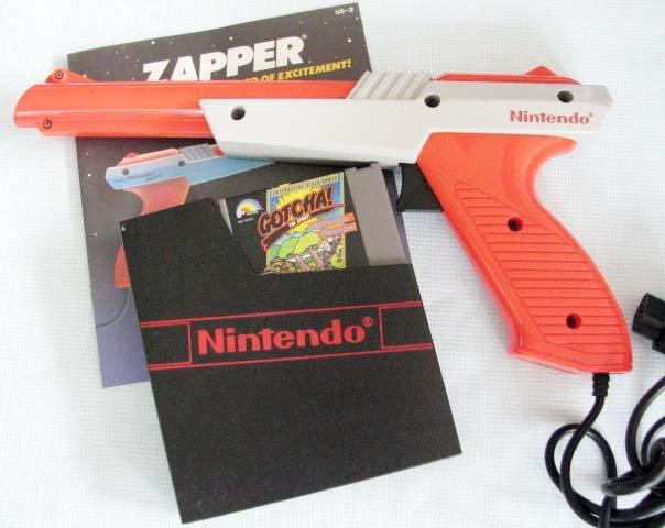 NES ORANGE ZAPPER + GOTCHA Nintendo Video Games
