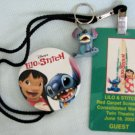 Disney LILO & STITCH Red Carpet Promo Lanyard & Button