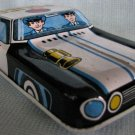 Tin Police Squad Car - Metal Friction Toy Japan