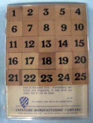 "Vintage ""MYSTIFYING 65"" Brain Teaser Wood Puzzle Game Sudoku"