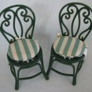 Dollhouse Miniatures 2 CHAIRS Seat Cushions