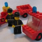 Vintage Lego Fireman's Car + Fire Truck and Trailer Sets 620 640