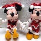 DISNEY MICKEY & MINNIE MOUSE CHRISTMAS Plush Tokyo 1998