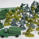 ARMY MEN 36 Plastic Figures Tank Boats Lot Hong Kong