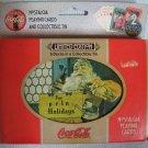 Coca Cola LE 2 Decks Playing Cards + Tin Coke NIB