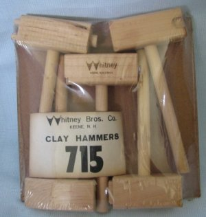Arts & Crafts CLAY HAMMERS by Whitney Bros Skulptors Tools