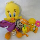 Looney Tunes TWEETY BIRD Figures + Bean Bag Plush