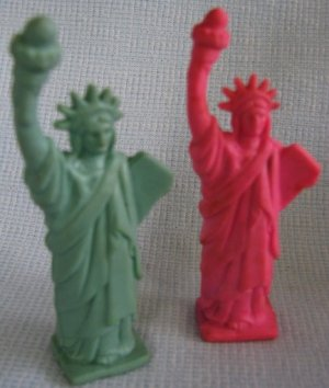 Vintage Statue of Liberty Rubber Figures