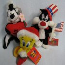 Looney Tunes Pepe Le Pew + Tweety + Sylvester Plush Soft Toys
