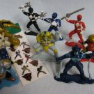 10 Power Rangers PVC Figures Rangers + Evil Aliens