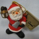 Vintage Porcelain SANTA ORNAMENT Telco &#39;85