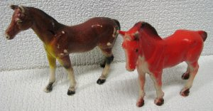 Vintage Rubber Horses - Imperial Toy