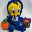 TWEETY BIRD Halloween Skeleton '99 Plush Warner Brothers