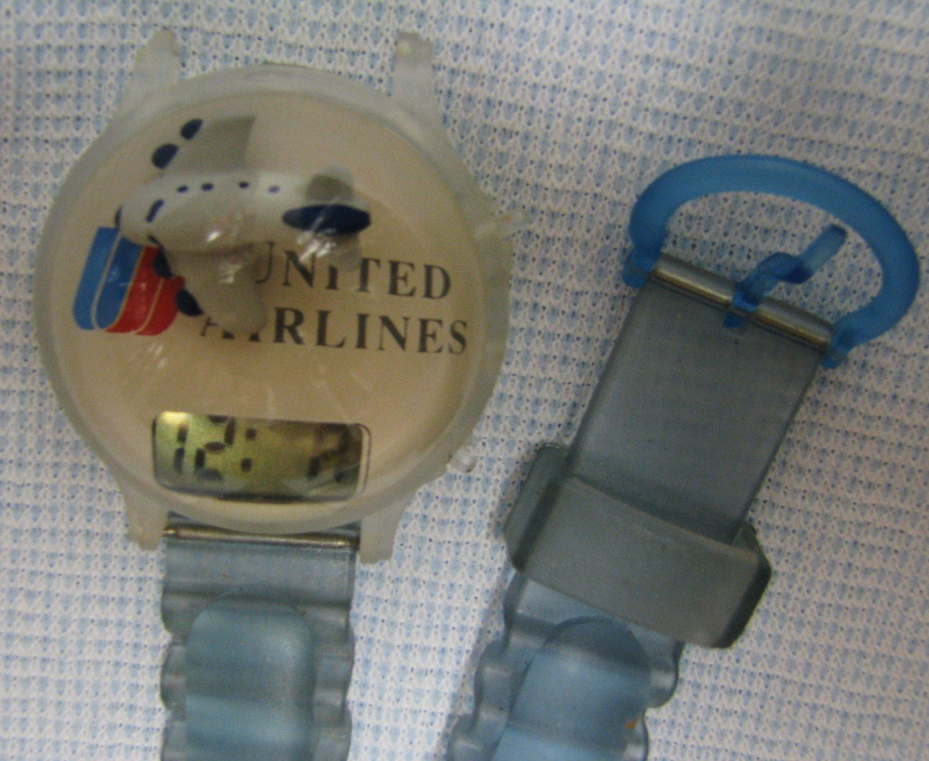 UNITED AIRLINES Digital Watch Promo Toys