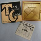 Tangrams Silhouette Puzzle Brain Teaser Game - All Wood MIB