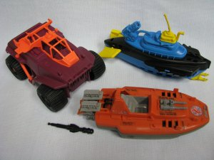 GI Joe Barracuda Devilfish Badger Vehicle Parts Lot