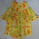 Toddler Top & Shorts 2pc Set Yellow Hibiscus Pattern