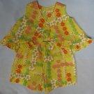 Toddler Top & Shorts 2pc Set Yellow Hibiscus Pattern