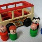 Fisher Price Bus Little People Mini Van 141 Red