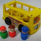 Fisher Price Bus Little People Mini Van 141 Yellow