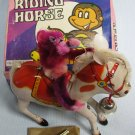 Monkey Riding Horse Tin Wind-Up Toys NIB