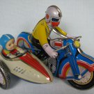 Tin Wind-Up Motorcycle with Sidecar
