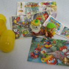 3 Kinder Egg KUKOMONS Monster Toys + Puzzle