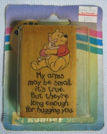 Pooh SMALL ARMS BIG HUGS Rubber Stamp MIP