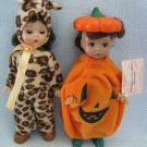 Halloween Pumpkin + Leopard - Madame Alexander Dolls McDonalds Happy Meal Toys