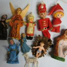 Vintage Christmas Pixies Nativity Angels Ornaments
