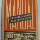 Vintage U.S.O. For Work In War Book YWCA