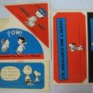 Vintage Peanuts Gang Stickers Lot