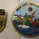 Lions Club Pins - Illinois 100% Attendance - Crossing the Delaware