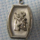 ST CHRISTOPHER Sterling Charm Pendant Vintage Rosary