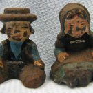 Vintage Lead Man Woman Sitters Figures