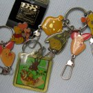 Winnie The POOH Pins Keychains Lot Disney