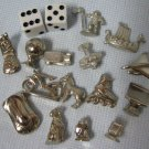 Monopoly 15 Metal Tokens + Dice