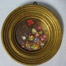Vintage Framed Art Print - Miniature Floral Italy