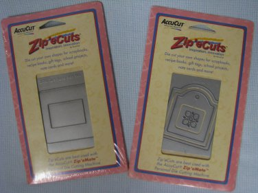 Zip'e Cuts AccuCut Dies Scrapbooking Gift Tag - Frame Side Mount