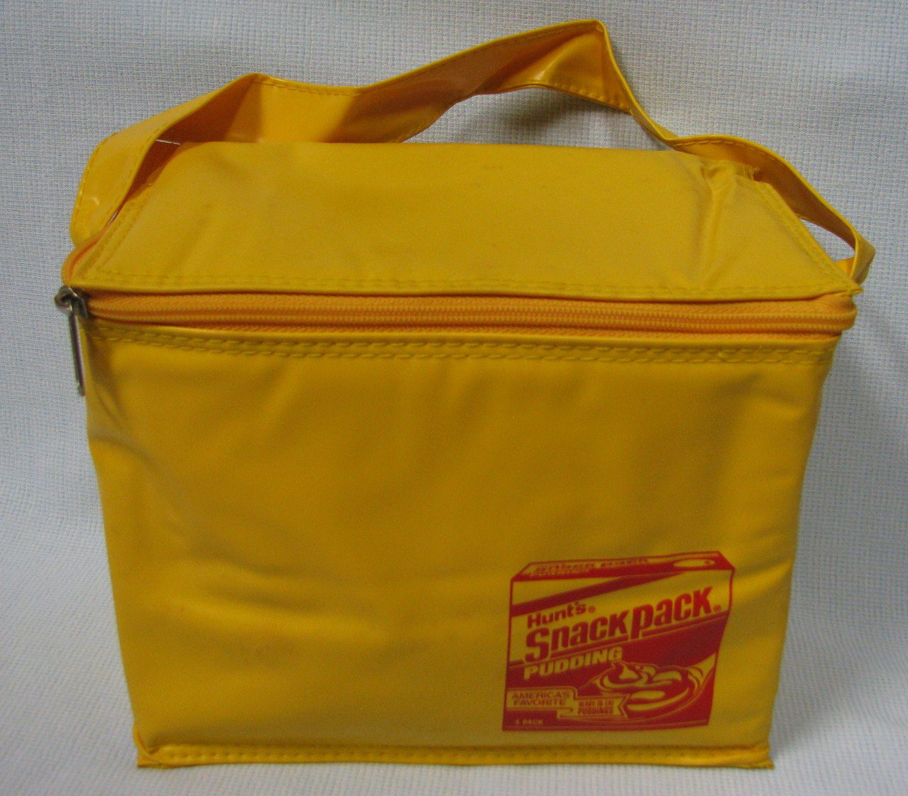 Hunts Snackpack Pudding Vinyl Tote Lunchbox Promo