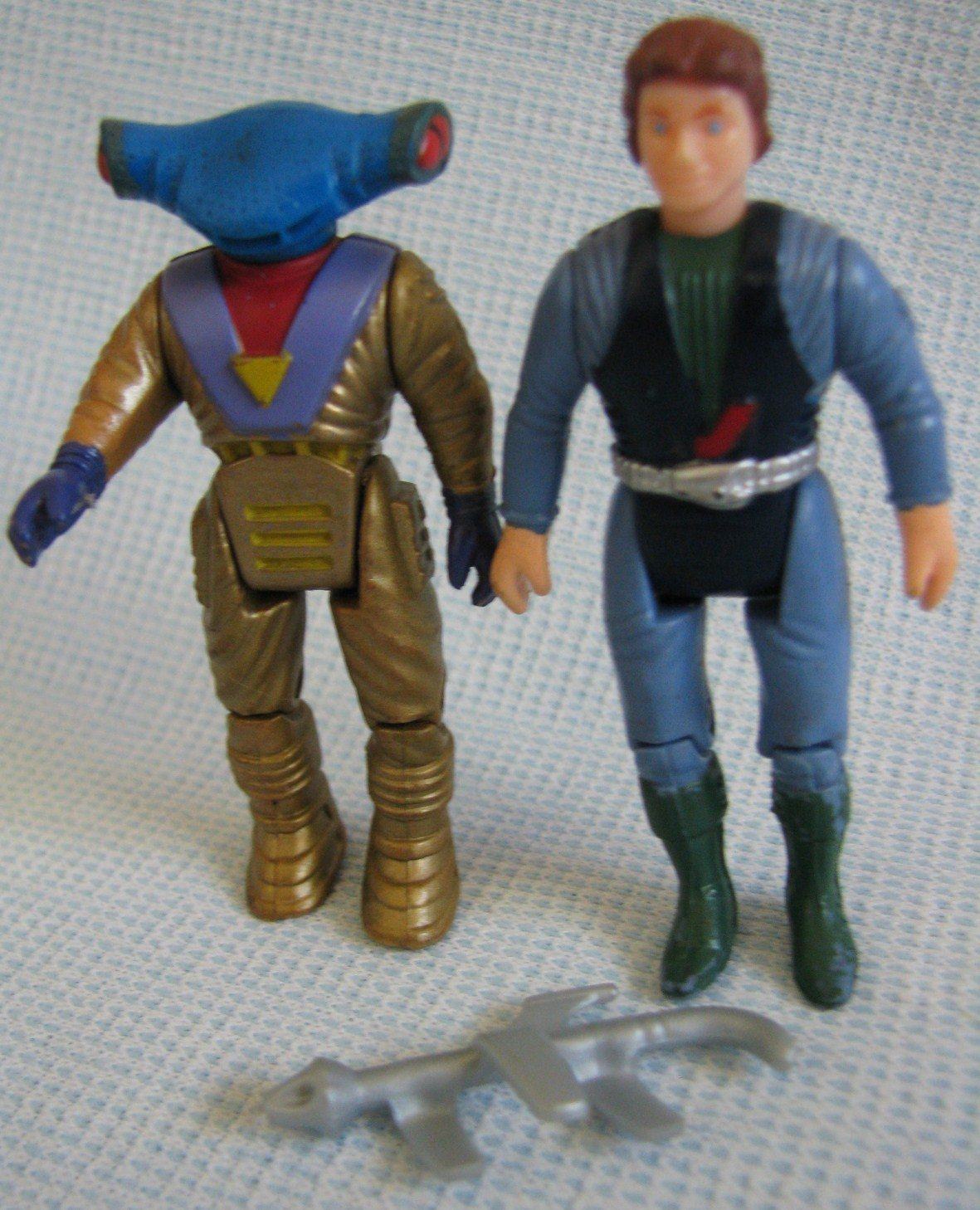 Vintage DinoRiders Sky + Finn Action Figures